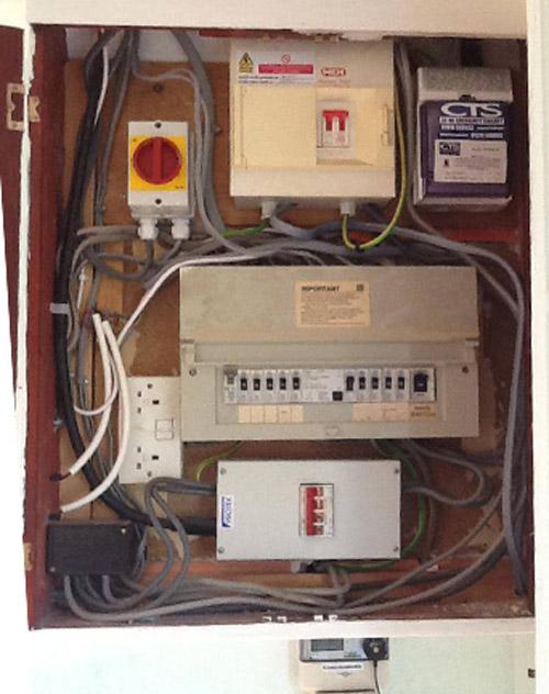 Messy & dangerous circuit box